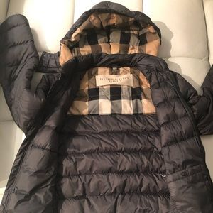 Hooded Burberry Brit Puffer coat
